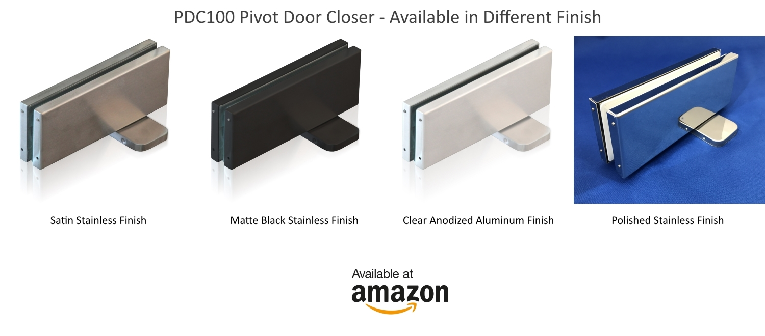 Pdc100s Pivot Door Closer Available In Different Finishes