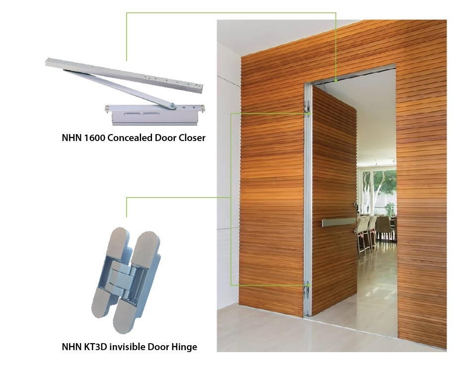 NHN Invisible Door Hardware Offers Beautiful And Contemporary Streamline  Appearance To The Doors. The High Performance Concealed Door Closer And The  ...